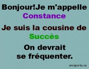 forme Constance et succès