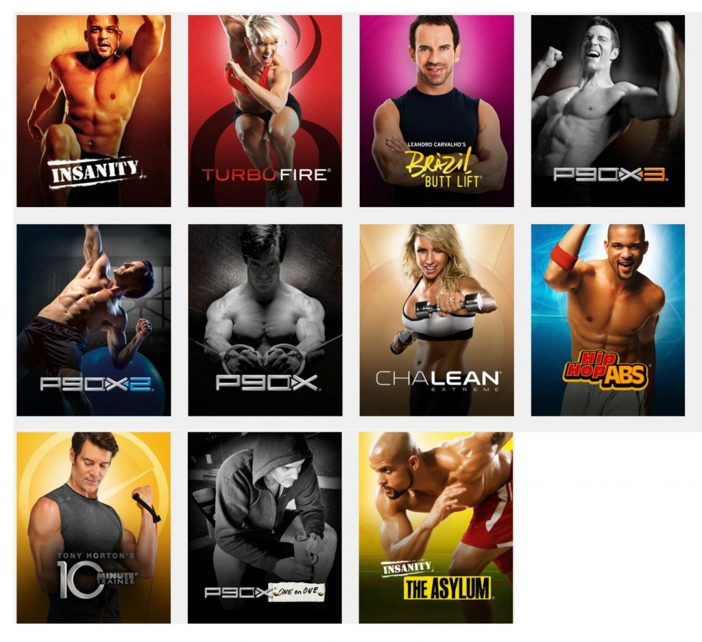 Librairie programmes Beachbody on Demand